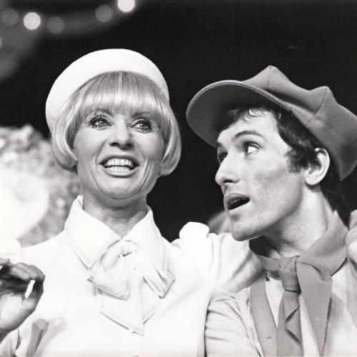 Bernard Pisani avec Annie Cordy dans la comédie musicale Nini la Chance (Théâtre Marigny)