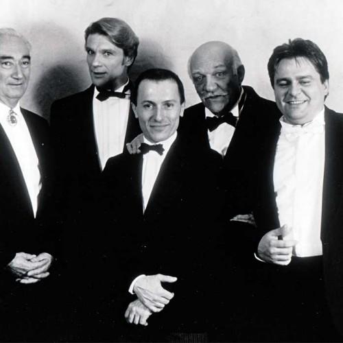 Avec Charles Imbert, Michaël Denard, Gabriel Bacquier et Jean-Luc Viala à l'issue d'un gala mis en scène par Bernard Pisani au Grand Auditorium de la SACEM